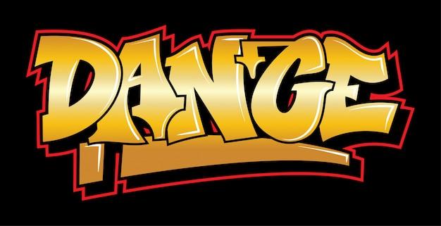 Ispirazione in stile graffiti dance. lettering decorativo.