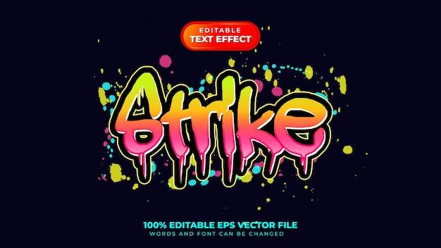 Effetto testo graffiti