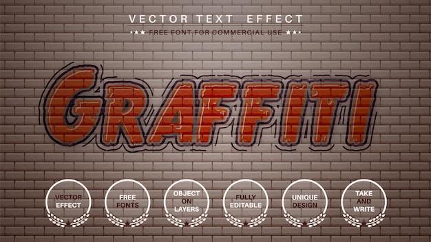 Graffity modifica lo stile del carattere dell'effetto del testo