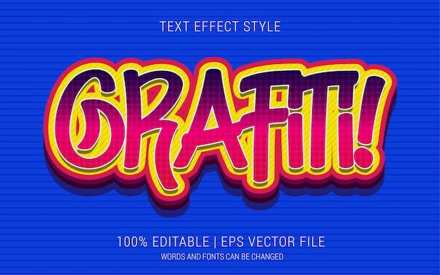 Grafiti! stile di effetti di testo