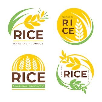 Insieme di modelli di logo aziendale di cereali