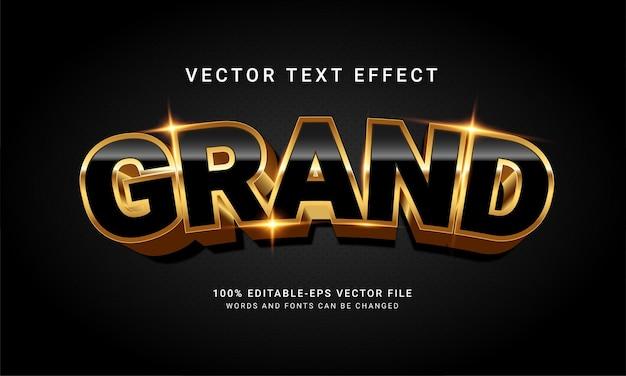 Grande effetto di stile di testo modificabile 3d con un concetto elegante