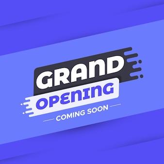 Grande apertura banner vendita sfondo