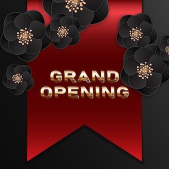 Banner di grande apertura. elemento di design festivo modello per la cerimonia di apertura