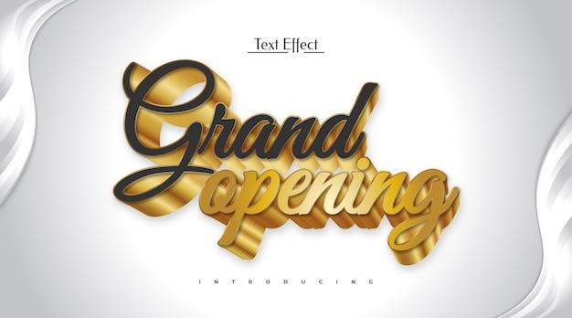 Grande apertura effetto testo modificabile in nero e oro