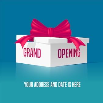 Illustrazione di grande apertura con confezione regalo