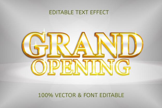 Effetto di testo modificabile di lusso in stile grande apertura