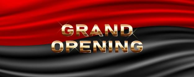 Grande apertura. l'elemento di design festivo del modello per la cerimonia di apertura può essere utilizzato come sfondo Vettore Premium