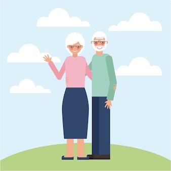 Carta di giorno dei nonni