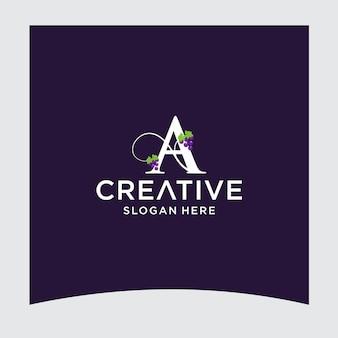 Un design del logo dell'uva
