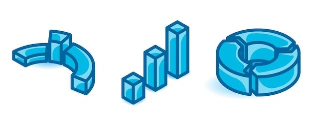 Set di marketing grafico