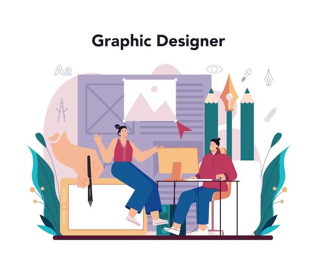 Concetto di graphic designer