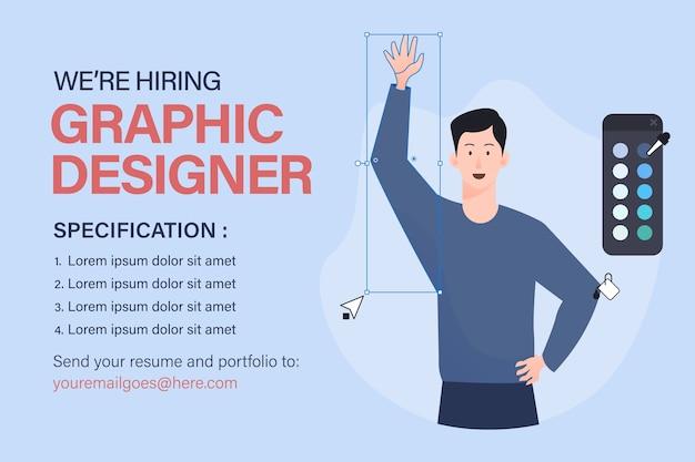 Modello di offerta di lavoro di graphic designer