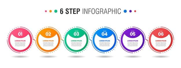 Grafica di modelli di progettazione di elementi infografici con passaggi