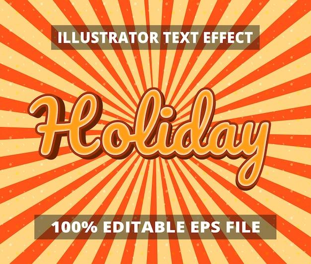 Stili grafici effetto testo modificabile dei cartoni animati