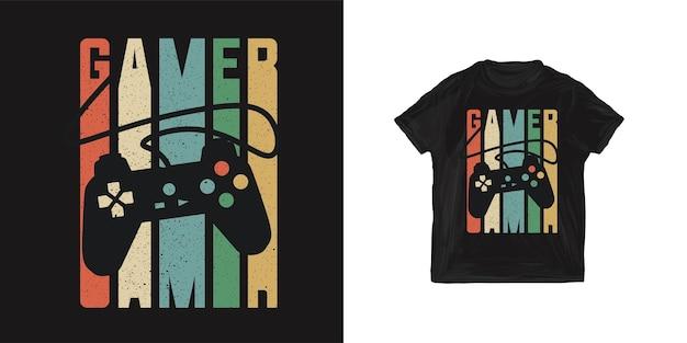 Giocatore di maglietta grafica per ragazzo Vettore Premium