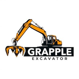 Logo dell'escavatore a pinza