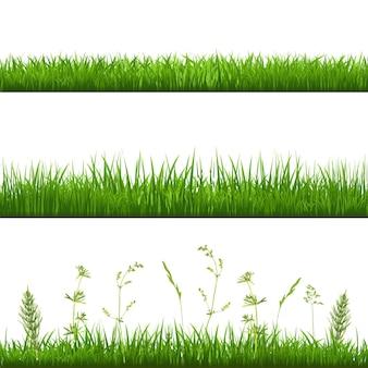 Bordi in erba, con gradiente maglie