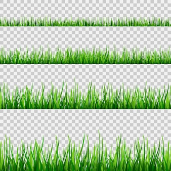 Modello di campo senza giunte di erba isolato su bianco. v