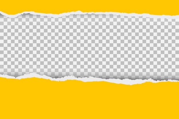 Sfondo grigio con copyspace e bordo carta strappata.