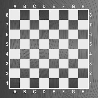 Scacchiera vuota grigia. concetto di illustrazione grafica vettoriale. art design a scacchi, scacchiera o scacchiera
