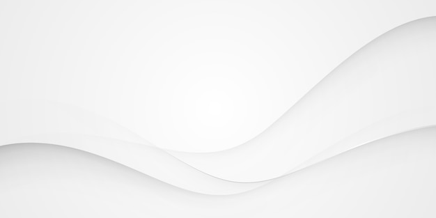Sfondo grigio argento onda astratta