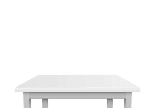 Tavolo grigio su sfondo bianco. illustrazione vettoriale