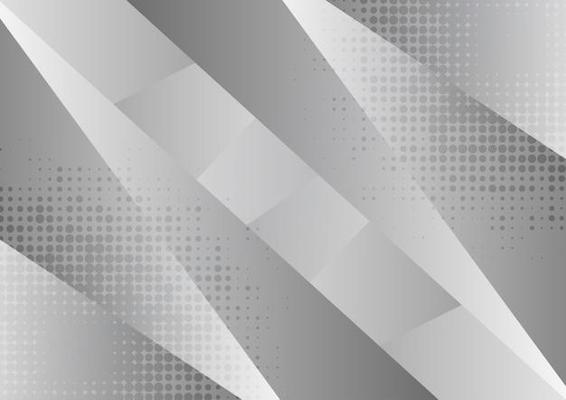 Sfondo astratto geometrico grigio e bianco