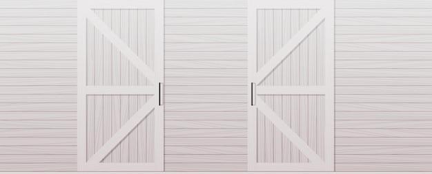 Illustrazione orizzontale dello sfondo del lato anteriore della porta del granaio in legno grigio