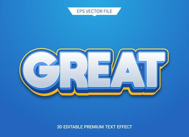 Grande effetto di stile di testo modificabile in 3d Vettore Premium
