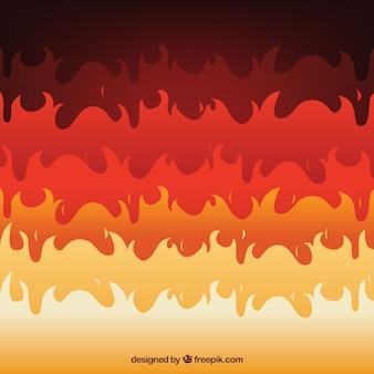 Grande sfondo di fiamme piatte