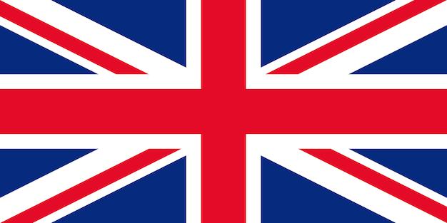 Bandiera della gran bretagna. Vettore Premium