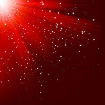 Grande trama di natale con brillanti stelle e raggi. file incluso