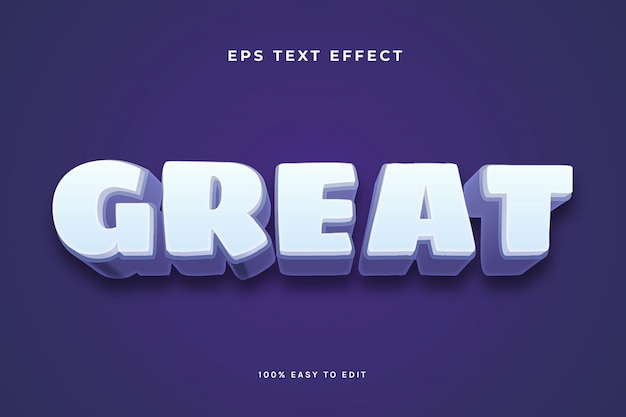 Grande effetto di testo viola bianco