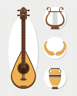 Strumento e simboli greci