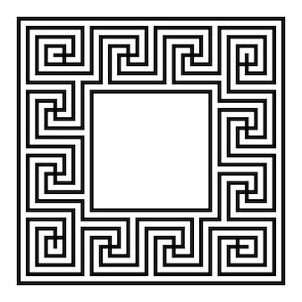Cornice bordo chiave greca tipico egiziano assiro e motivi greci texture geometrica araba