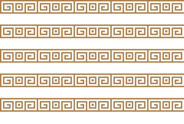 Motivi chiave greci trama senza soluzione di continuità o sfondo trama geometrica araba arte islamica
