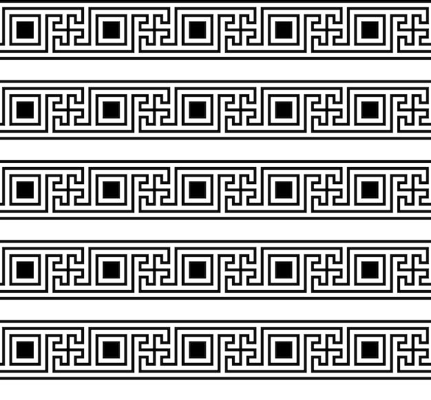Modello senza cuciture chiave greca tipici motivi greci egiziani struttura geometrica araba arte islamica