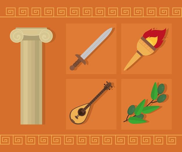 Insieme di simboli greci