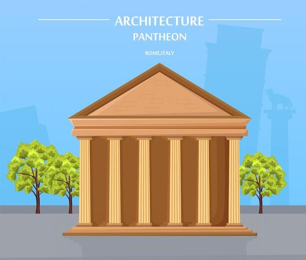 Architettura del tempio greco e attrazione di atene