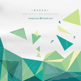 Sfondo verde con forme geometriche