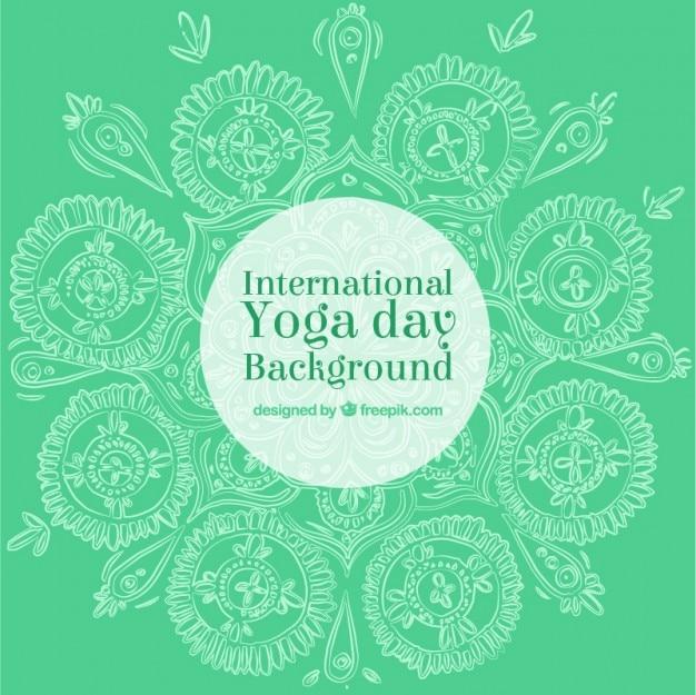 Sfondo verde giorno di yoga