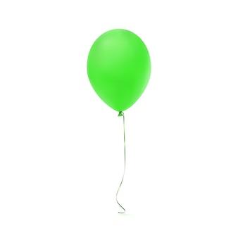Icona di palloncino verde isolato su priorità bassa bianca.