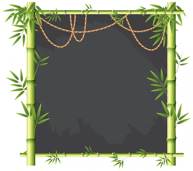 Uno stendardo di bambù verde