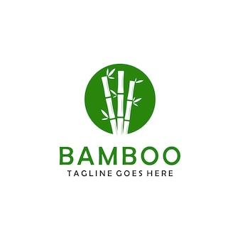 Progettazione di logo di simbolo di piante di bambù verde