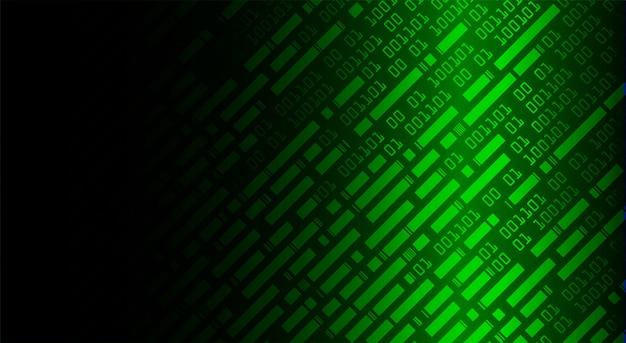 Fondo binario verde di concetto di tecnologia futura del circuito cyber