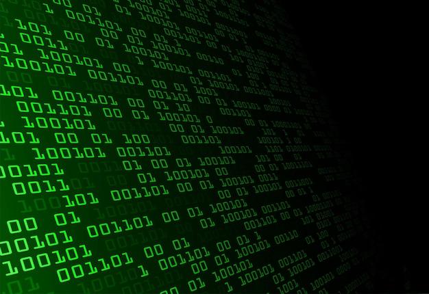 Fondo di concetto di tecnologia del circuito cyber binario verde futuro