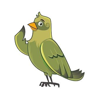 Illustrazione di uccello verde