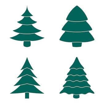 Collezione albero di natale verde