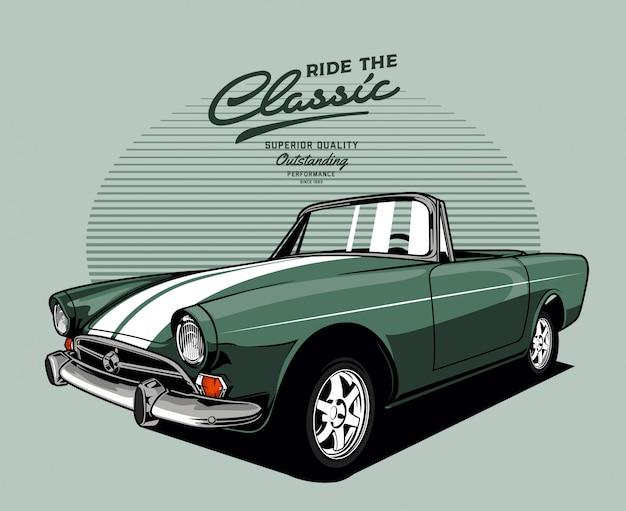 Automobile classica verde